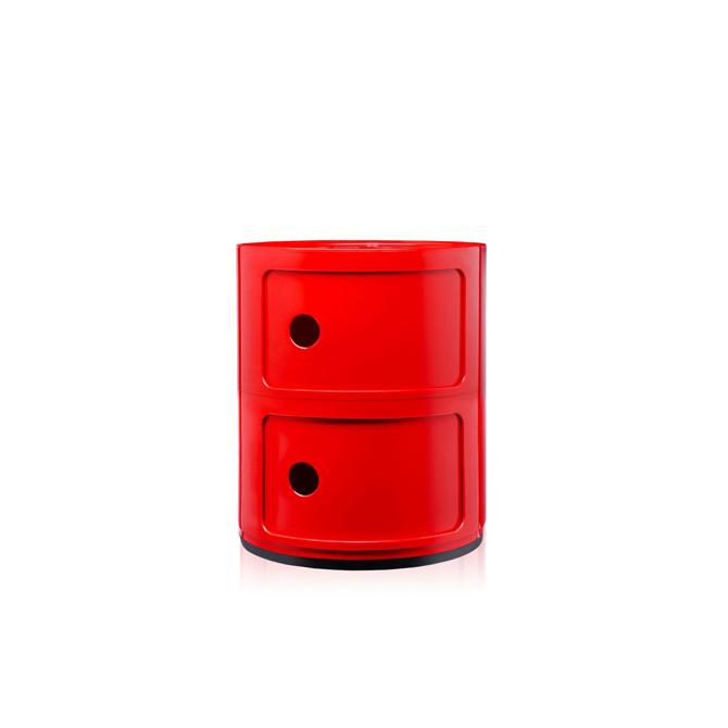 Componibili 2 cassetti Kartell rosso