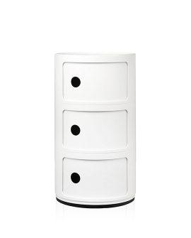 Componibili 3 cassetti Kartell bianco