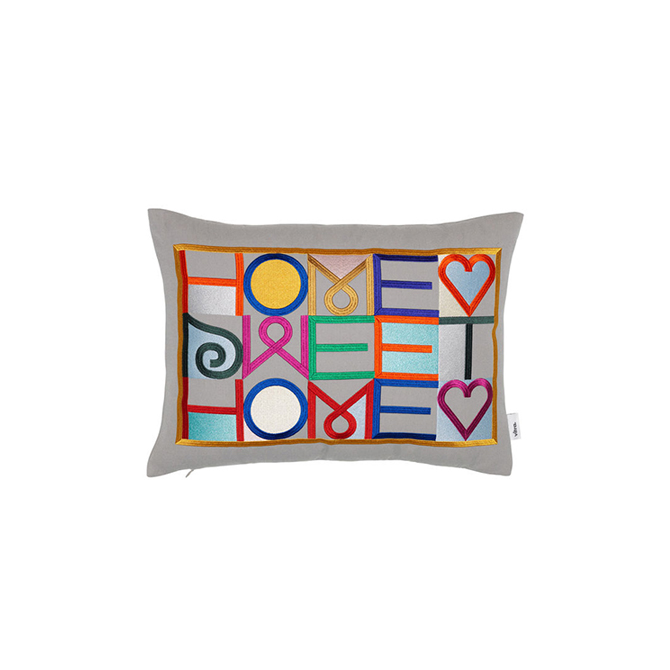 Embroidered Pillows, home sweet home