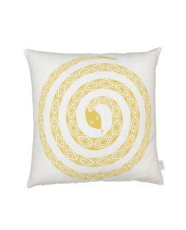 Graphic PIllows Snake senape