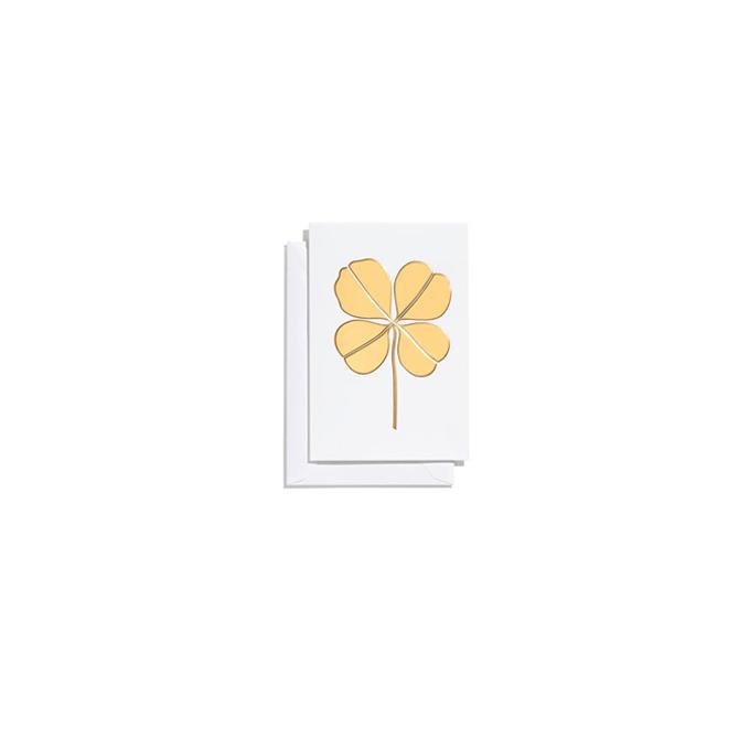 Greeting Cards quadrifoglio oro