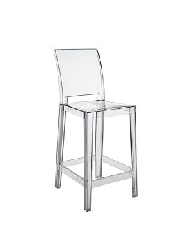 Sgabello One More Please Kartell Cristallo