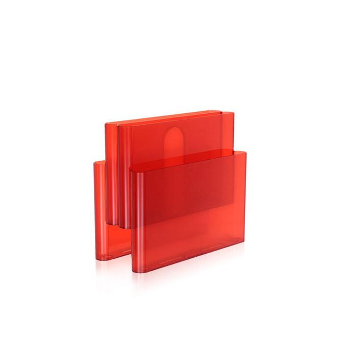 Magazine Rack Kartell rosso
