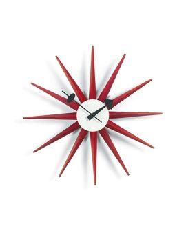 Sunburst Clock rosso Vitra