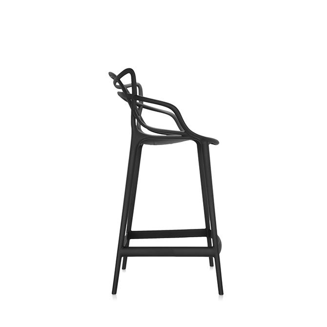 masters stool sgabello da bar h 65 variante nero laterale