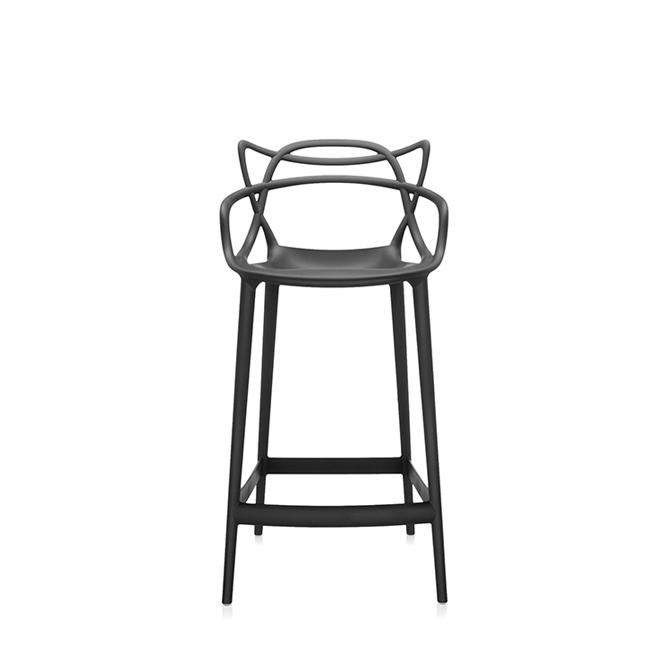 masters stool sgabello da bar h 65 variante nero