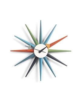 Sunburst Clock Vitra multicolore