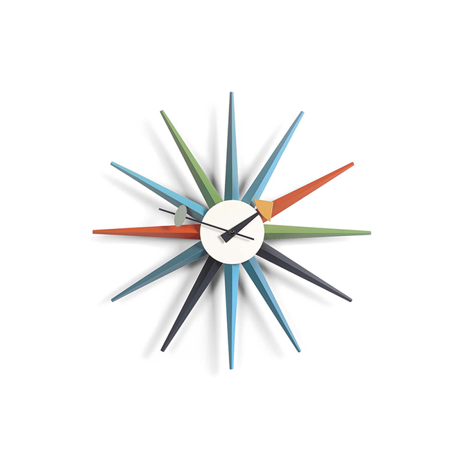 Sunburst Clock Vitra multicolore