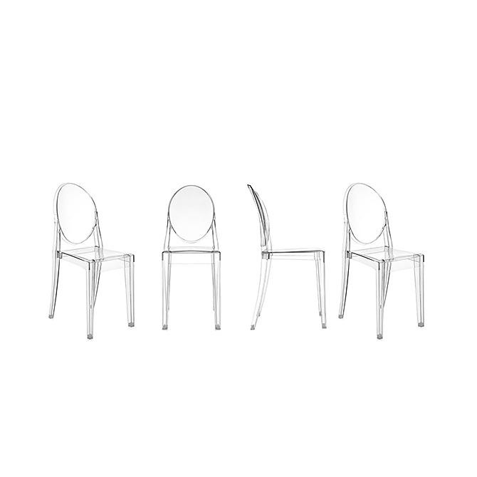 Victoria Ghost - Sedia in set di 4 pezzi
