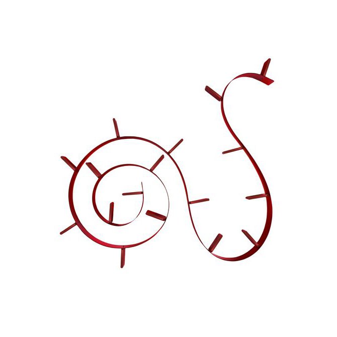 Bookworm Kartell 17 reggilibri rosso