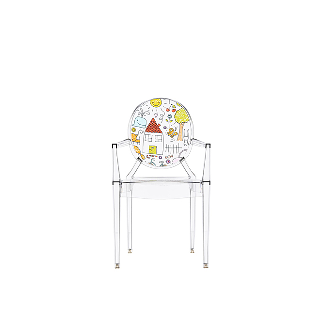 seggiolina lou lou ghost kartell kids con disegno dtime. Black Bedroom Furniture Sets. Home Design Ideas