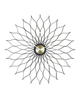 Sunflower clock nero Vitra - Wall Clock