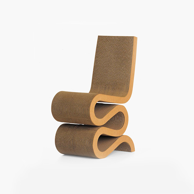 Sedie In Cartone.Wiggle Side Chair Sedia In Cartone Ondulato