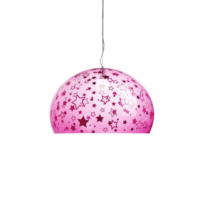 Fly kids media lampada stelle rosa