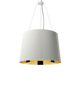 Ge lampada Kartell 9082 bianco e oro- sospensione in plastica Kartell online DTime