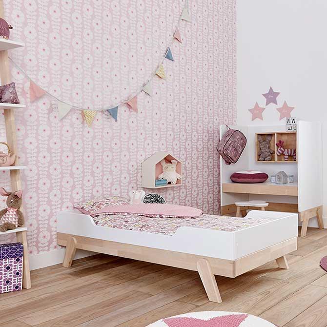 Lettino basso trasformabile Lifetime Kidrooms Dtime legno di pino bambina