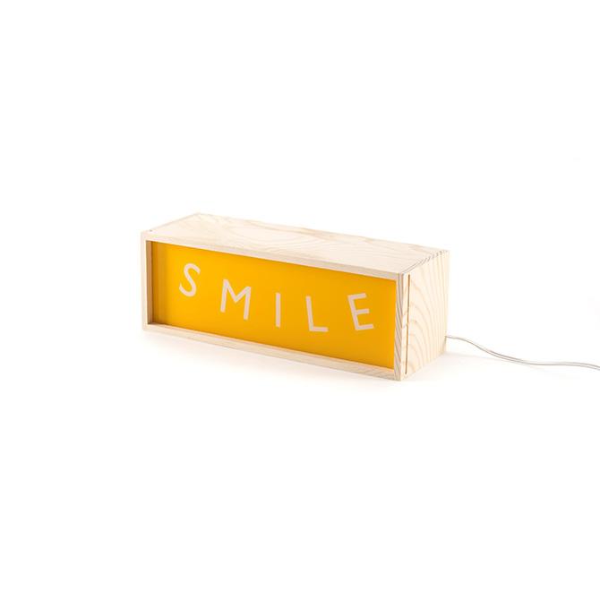 Lighthink Box L 30 Seletti testo luminoso Smile - DTime