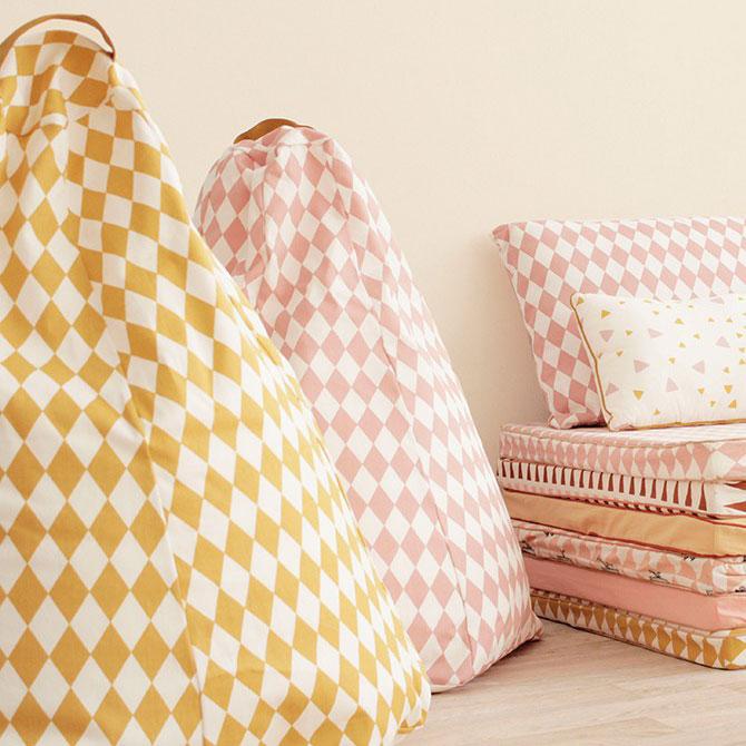 Marrakech Pouf sacco in cotone Nobodinoz online su Dtime