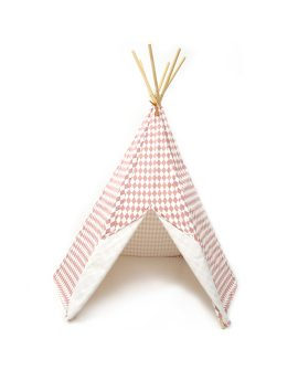 Tenda tipi Arizona fantasia rombi rosa Nobodinoz Barcellona tenda gioco bambini h 155 cm giocattoli design creativi DTime