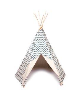 Tenda tipi Arizona zigzag blu Nobodinoz Barcellona tenda gioco bambini h 155 cm per cameretta DTime