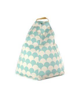 Marrakech Pouf sacco in cotone Nobodinoz online su Dtime pouf bambino onde verde chiaro 43968