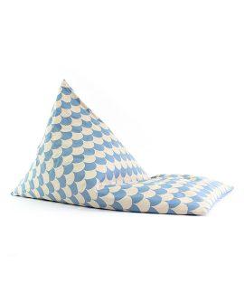 Essaouira Pouf Nobodinoz online su Dtime pouf bambino blu con onde 63195