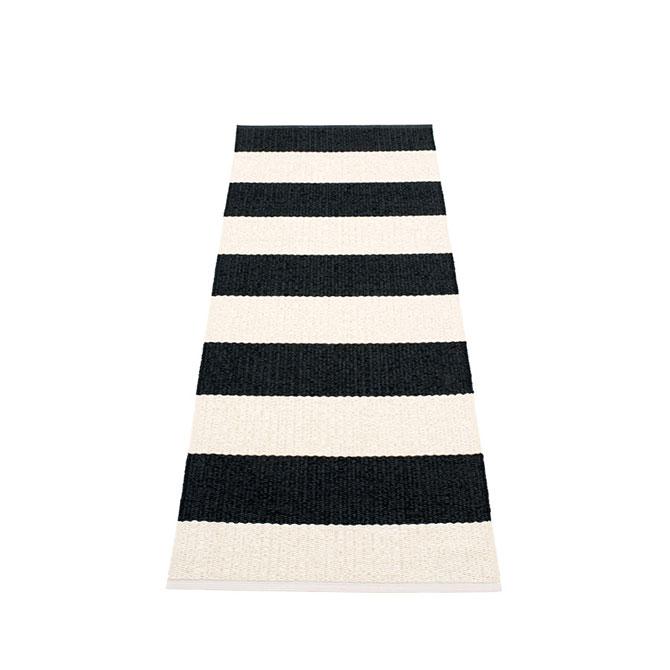 Pappelina Bob Box720 tappeto strisce nero-vaniglia cm 70x200 in plastica PVC_Online su Dtime