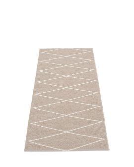 Pappelina Max reversibile MX6716 tappeto mud-vanilla colori fango-vaniglia cm 70x160 in plastica PVC_Online su Dtime