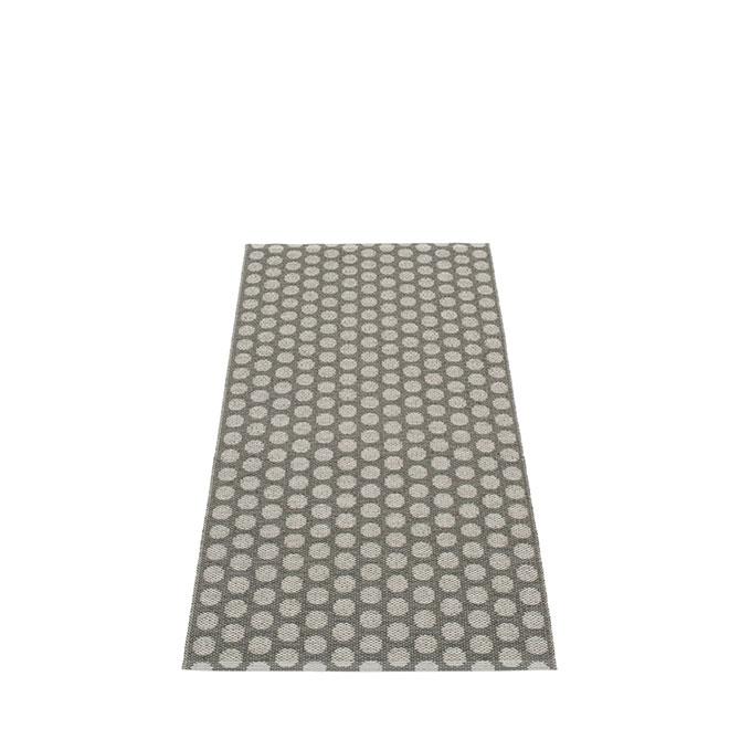Pappelina Noa NO9A715 retro tappeto charcoal-vanilla grigio carbone e vaniglia cm 70x150 in plastica PVC_Online su Dtime