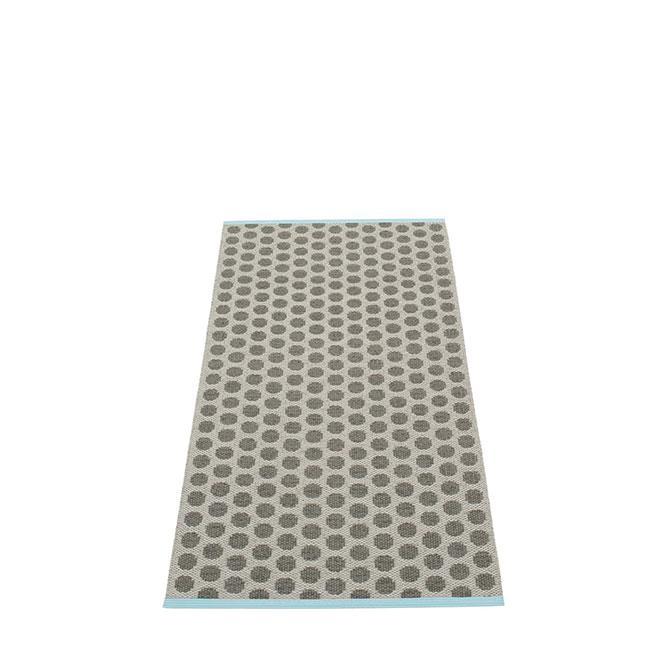 Pappelina Noa NO9A715 tappeto charcoal-vanilla grigio carbone e vaniglia cm 70x150 in plastica PVC_Online su Dtime