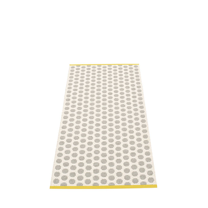 Pappelina Noa NO9D715 tappeto warm grey-vanilla grigio chiaro e vaniglia cm 70x150 in plastica PVC_Online su Dtime