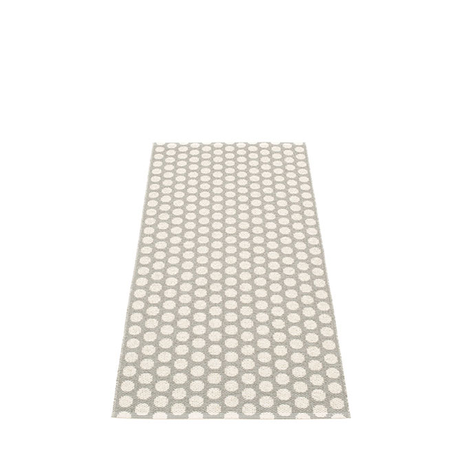 Pappelina Noa NO9D715 retro tappeto warm grey-vanilla grigio chiaro e vaniglia cm 70x150 in plastica PVC_Online su Dtime