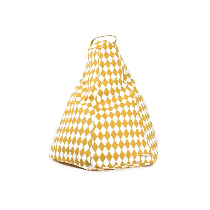 Marrakech Pouf sacco in cotone Nobodinoz online su Dtime pouf bambino losanghe giallo miele diamonds honey 54827