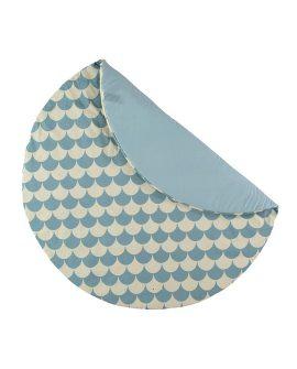 Tappeto tondo Apache small Nobodinoz Dtime colore onde blu tappeto gioco cotone per camerette