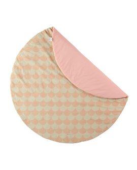 Tappeto tondo Apache small Nobodinoz Dtime colore onde rosa tappeto gioco cotone per camerette