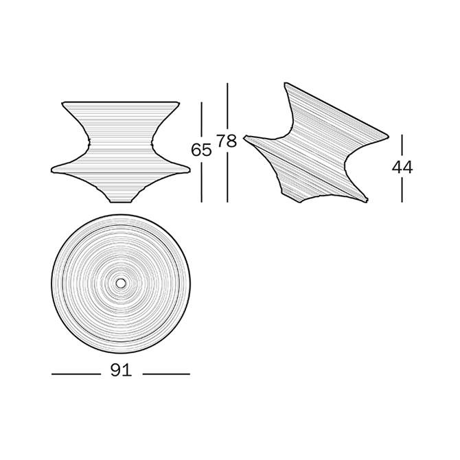 Magis Spun - poltroncina rotante  Shop online su DTime