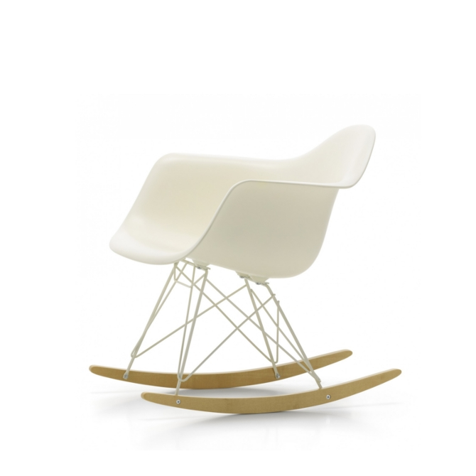 Ben noto RAR dondolo bianco - Limited Edition - Vitra Eames Plastic | DTime LL82