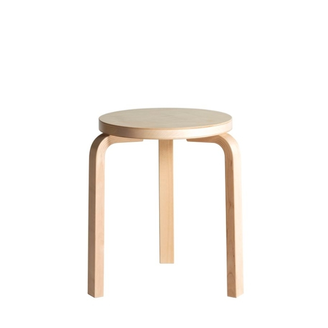 stool 60 sgabello a tre gambe verniciato betulla