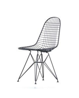 wire chair dkr sedia in filo d'acciaio variante basic dark verniciato
