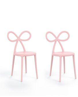ribbon chair set di sedie versione rosa
