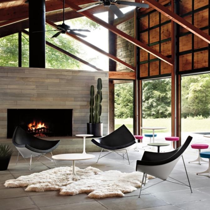 coconut chair sedia lounge ambientata