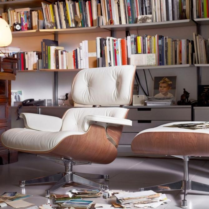 lounge chair noce pigmentato bianco prodotto ambientato