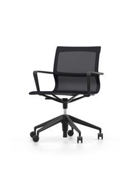 physix studio sedia da ufficio girevole variante black pearl e nero intenso