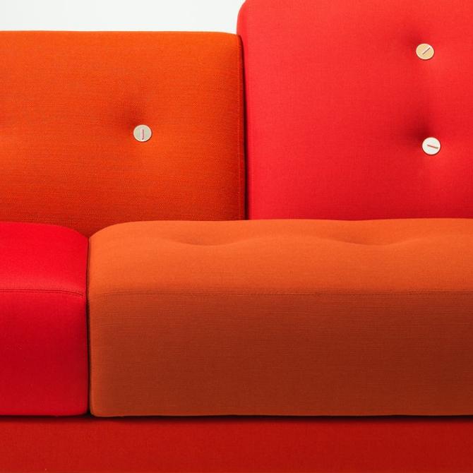 polder sofa divano colorato versione classica dettaglio rosso