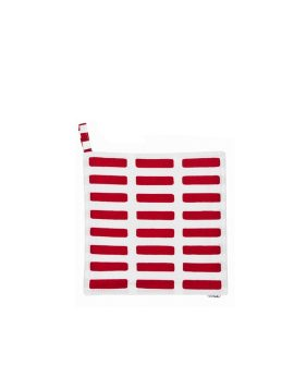 siena pot holder presina da cucina variante white and red prodotto