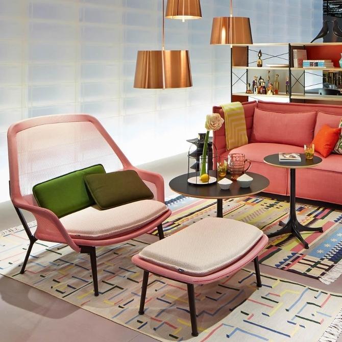 slow chair ottoman prodotto ambientata salotto