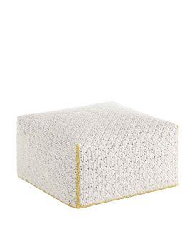 pouf bianco