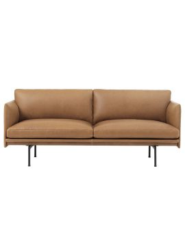 Outline-2-seater-Cognac-Refine-front-Muuto