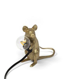 Seletti-MouseLamp-mac-sitting-gold-filo-nero-seletti