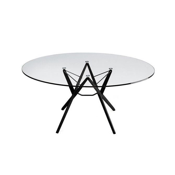 Tavolo Cristallo Zanotta.Orione Tavolo Con Piano In Cristallo
